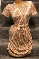 LulaRoe Marly Dress Damask Floral Print Peach/Pink