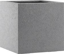 Pflanzkübel Blumenkübel Fiberglas Esteras Lisburn Basalt Grey 27x27x27cm