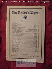 Reader's Digest July 1925 Booth Tarkington Bruce Barton O. Henry Heywood Broun