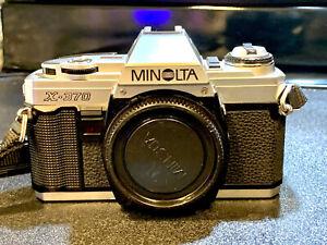 Minolta X-370 35mm SLR Film Camera - Black (Kit with 50mm 1.7 Lens and Bundle)