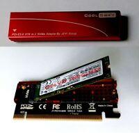 NVMe M.2 M Key PCI Express x16 Adapter Karte | für SSD | Mac Pro | Mit Kühler