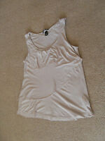 H & M nude coloured party top - size S