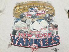 VTG 90s 1998 MLB New York Yankees Div. Champions T Shirt Gray Large Derek Jeter