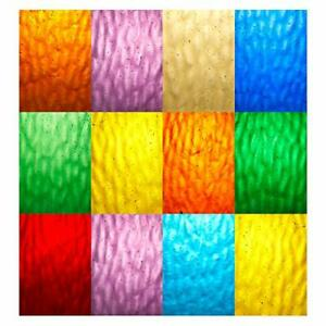 Lanyani 10 Sheets Colored Water Ripple Glass Pack 4 x 6 inches Transparent Ca...