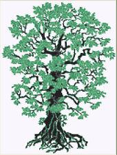 CROSS STITCH KIT - STENCIL TREE   22 CM X 29 CM 14 COUNT