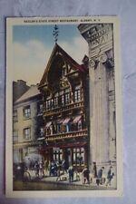 Vintage 1940s Linen Postcard k: Keeler's State Street Restaurant Albany NY