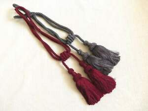 Laura Ashley curtain tassel tie backs, 1 pair, Cranberry or Charcoal, Brand New