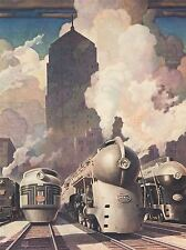 ART PRINT POSTER PAINTING RAGAN NEW YORK CENTRAL SYSTEM TRAIN NOFL0881