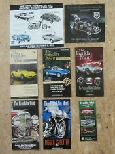 New ListingFranklin Mint Sales Brochures Catalog Lot Chrysler Airflow Corvette Harleys Etc
