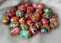 Set of 12 Small Wooden eggs Decorate for Easter Gift Pysanky Pysanka Handmade1,6