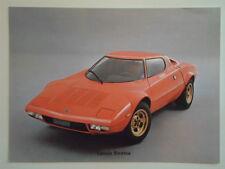 LANCIA STRATOS orig 1974 French Mkt Sales Card Leaflet Brochure Depliant Prospek