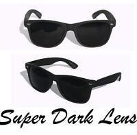 New Matte soft rubberized classic sunglasses with SUPER dark black lens Classic