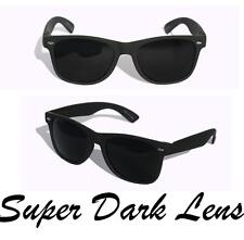 New Matte soft rubberized classic sunglasses with SUPER dark black lens Classic