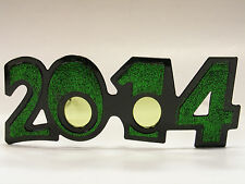 2014 GREEN GLITTER GLASSES NEW YEARS HOLIDAY ACCESSORY ONE SIZE