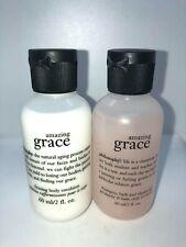Philosophy Amazong Grace Firming Body Emulsion & Shower Gel 2 Pk 2 oz Each NWOB