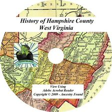 1897 -  HAMPSHIRE County West Virginia WV - History Genealogy Ancestry - CD DVD