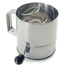 NORPRO S/Steel ROTARY Flour Sifter Cup Icing Sugar Shaker Strainer Sieve NP145 N