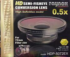 Raynox HDP-5072EX 5072 EX High Definition 0.5x Semi-Fisheye 72mm NEW