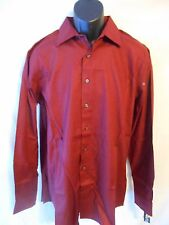 Apt. 9 100% Cotton Tall LT Cabernet Striped Reg Fit 36/37 Point Shirt SR$54 NEW