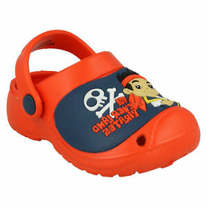 BOYS JAKE & NEVERLAND PIRATES HOLIDAY BEACH SANDALS CLOGS POOL GARDEN SHOES SIZE