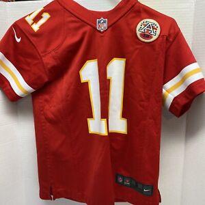 Nike Youth NFL Throwback Kansas City Chiefs Alex Smith Red Jersey Sz Small S New