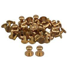 20pcs 9mm Head Button Brass Stud Screwback Screw Back DIY For Leather Belt Purse