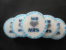 Mr & Mrs Blue Wedding Candy Rock Sweets. Party table gifts. Wedding Favours.