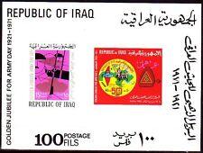 Iraq iraq 1958 ** bl.21 giorno dell'Esercito Army Day soldati SOLDIERS CARRO ARMATO TANK