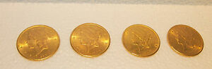 "5 GOLD LIBERTY  $20.00 ""S"" (SAN FRANCISCO) C1885-98-1904-6.PRICE IS FOR ONE COIN"