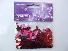 14g of small Red Sparkle Hearts Metallic Confetti (Love, Valentine)