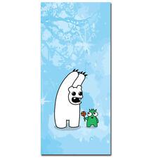 ~Polo Scare - 20cm x 50cm - Urban Graffiti Canvas. Kidrobot, polar bear monster~