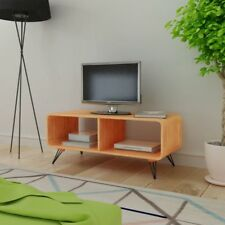 TV Entertainment Unit Cabinet Stand Coffee Table MDF Steel 90cm Lowline Brown