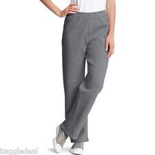 HANES FLEECE SWEAT JOGGING WORK OUT PANTS WOMEN 2XL(18-20) CHARCOAL