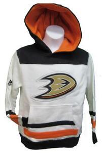 New Anaheim Ducks Youth Sizes S-L-XL White Hoodie