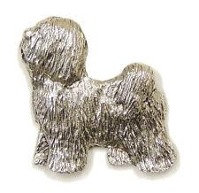Tibetan Terrier Brooch, Silver Finish