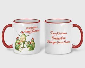 Frog Carollers Christmas Gift Merry XMAS Personalised Mug Secret Santa Toads