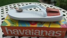 Havaianas white flip flops .35.36 available only £9