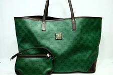 100% Authentic MCM Green *Travel* Shopper Shoulder Bag + Pouch