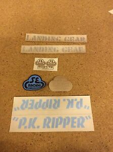 Genuine NOS 1980's PK Ripper Stickers (blue and brown) SE RACING