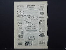 Illustrated London News Ads ONE Double-Sided Page c1888 S2#01 Benson's Novelties