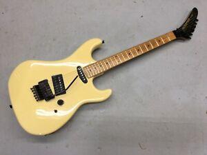 80's Kramer Japan JK 1000 Electric Guitar Cream White Maple Reverse