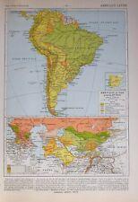 HISTORICAL MAP SOUTH AMERICA ARGENTINE REPUBLC BRAZIL CONQUEST RUSSIA IN ASIA