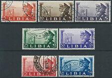 1941 LIBIA USATO FRATELLANZA D'ARMI 7 VALORI - ED571