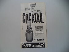 advertising Pubblicità 1964 COCKTAIL ANALCOLICO S. SAN PELLEGRINO