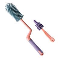2Pcs Bottle Brush Easy Good Cleaning Brush for Baby Bottle Children