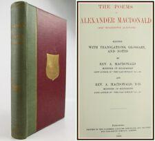 SCOTTISH GAELIC POETRY-ALEXANDER MACDONALD-1924-JACOBITE/NATURE/SATIRICAL SONGS