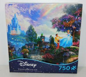 Disney Thomas Kinkade 750 Jigsaw Puzzle CINDERELLA PRINCE Castle Lucifer Cat Dog