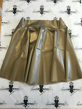 R0069 Latex *PS GOLD* Westward Bound Skating Skirt 12 UK Seconds RRP £60.61
