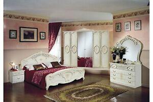 Italienisches Barock Schlafzimmer Rouza in Beige 6-Teilig