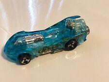 Mattel Hot Wheels  Power Rocket 1995 blue translucent body 3.75 inches